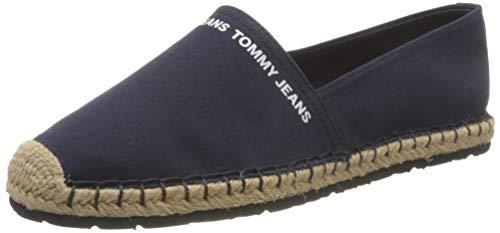 Tommy Jeans Essential Espadrille, Esencial Mujer, Azul Marino Crepúsculo, 38 EU