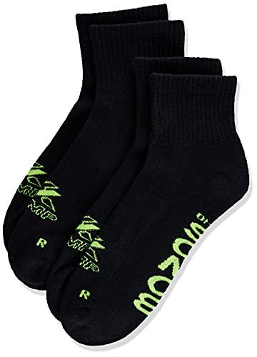 Bonds Men's X-Temp Quarter Crew Socks, Black, 11+ , (2 Pack)