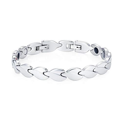 Magnetic Bracelet for Arthritis Hot Flush Flushes Menopause Magnet - Unisex (Silver)