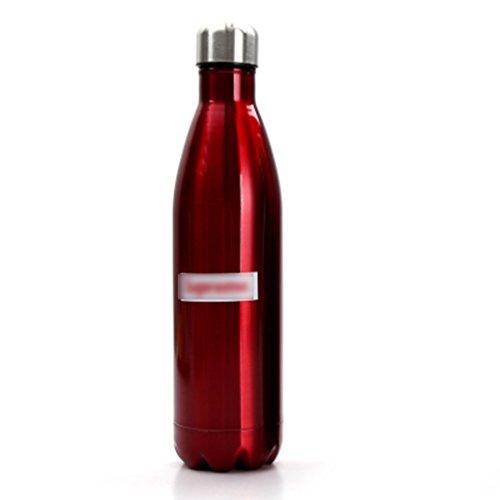 WeiLuShop Gobelet de Voyage de capacité de l'étudiant de personnalité de Tasse d'isolation de Vide d'acier Inoxydable 17 onces (Color : Red)