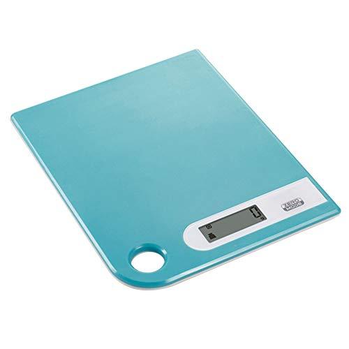 QAQ Ultradelgado Electrónico Báscula De Cocina Alta Precisión Táctil Pantalla LCD 5kg/1g Horneado De Alimentos,Blue,20 * 16 * 1.3cm(5kg/1g)