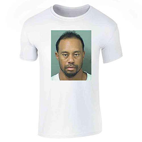Pop Threads Golf Goat Celebrity Mugshot Sports Funny White L Graphic Tee T-Shirt for Men