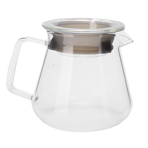 Denkerm Ekspres do kawy, trwały szklany dzbanek do kawy, 8,5 cm do Office Home (500 ml)