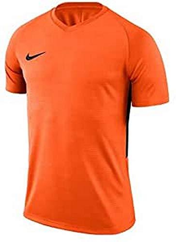 Nike–Tiempo Premier SS Maglia, Uomo, Tiempo Premier SS, Arancione/nero, XXL