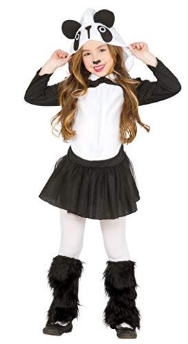 shoperama Disfraz de oso panda para nia, con capucha y forro polar, tul y animal, para nios de 3 a 4 aos
