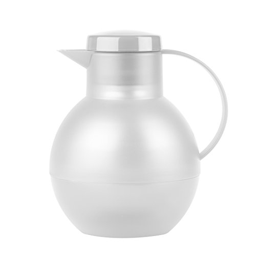 Emsa 509154 Tee-Isolierkanne mit Aroma-Teesieb, 1 Liter, 100{ae8636807be1efba95353fc1cf5b79826d211ec7eb5cb8ad4830125c3a8e3d21} dicht, Transluzent Weiß, SOLERA
