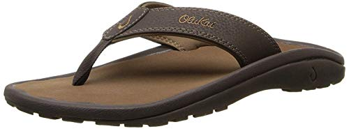 OLUKAI Men's Ohana Sandals, Dark Java/Ray, 13