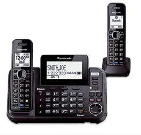 Panasonic KX TG9541B DECT 6 0 Plus Technology Link to Cell 2 Line Expandable Digital Cordless product image