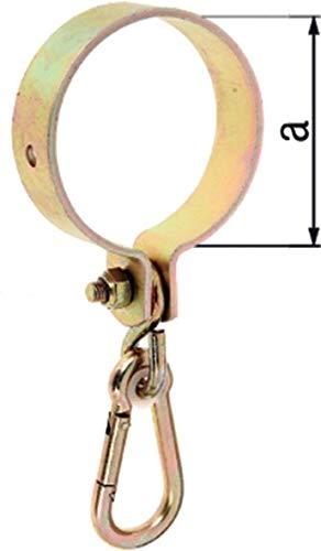 Abrazadera para columpio (diámetro 100 mm, galvanizado, carga máxima 70 kg), color amarillo