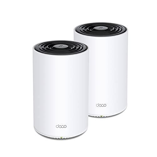 TP-Link Deco Tri Band Mesh WiFi 6 System (Deco X68) – Cubre hasta 5500 pies cuadrados. Cobertura para toda la casa, reemplaza enrutadores y extensores inalámbricos, paquete de 2