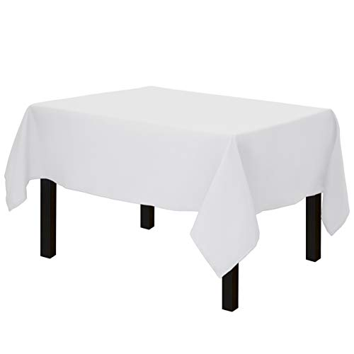 Gee Di Moda Square Tablecloth - 52 x 52 Inch - White Square Table Cloth for Square or Round Tables in Washable Polyester - Great for Buffet Table, Parties, Holiday Dinner, Wedding & More
