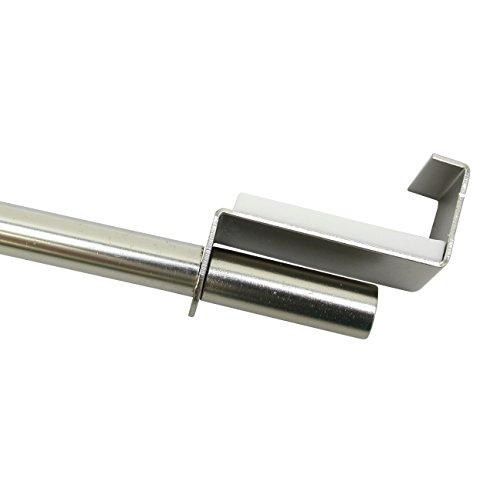 GARDINIA Spannvitrage, Ausziehbar, Montage ohne Schrauben und Bohren, Durchmesser 9 mm, Länge 120-160 cm, Metall, Titan