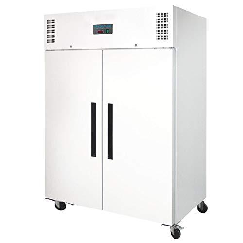 Polar Doppeltür-Gefrierschrank, 1200 Liter, für Gastronomie, Weiß