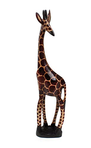 18' Giraffe Wood Carving Home | Room Decor Craft