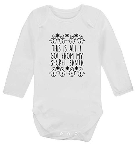 Flox Creative Gilet à Manches Longues pour bébé Inscription This is All I Got from My Secret Santa - Blanc - XS