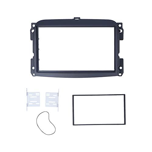 2 Accessori per Auto Doppio DIN Cornice di Navigazione per Cruscotto, Copertura per Fascia Autoradio Stereo DVD Cornice per Pannello di Navigazione Audio Compatibile con Fiat 500L 2012-2015