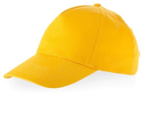 Baseball Cap 'Euro' 100% Baumwolle im 13 Farben, Goldgelb, One Size up to 59cm