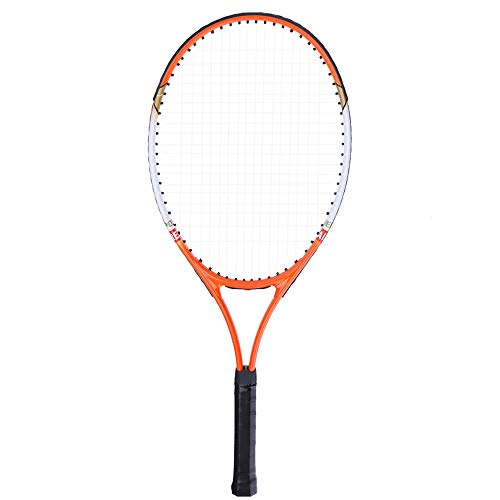 YYDM 1 Stück Professionelle Tennisschläger - Langlebiges Gut Leicht Rackets/Tragbarer Bequemer Handgriff Mit 1 Tragetasche, Übernehmen Für Anfänger, Erwachsene Und Kinder,Orange