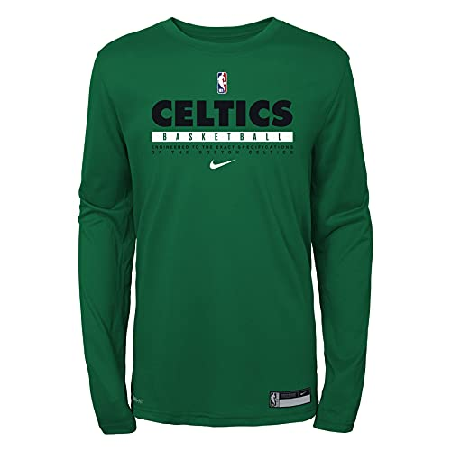 Nike NBA Boys Youth (8-20) Practice Longsleeve T-Shirt, Boston Celtics, Small (8)