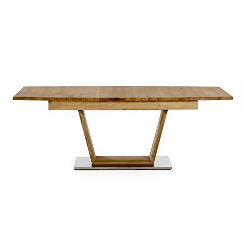 Amazon Marke -Alkove - Hayes - Moderner, ausziehbarer Massivholztisch, 205cm, Wildeiche