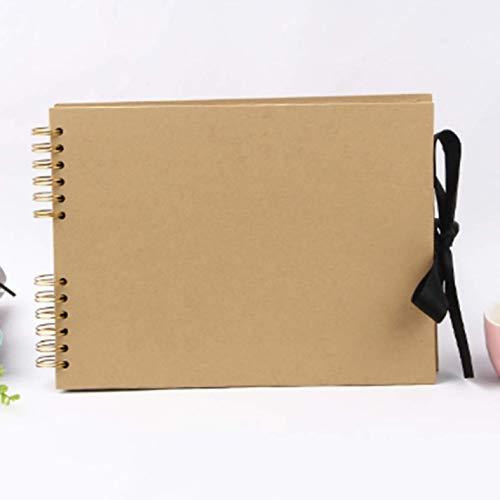 djryj Nieuwe Trendy Scrapbook Fotoalbum 80 Zwarte Pagina's Geheugenboeken 12 x 9 inch A4 Craft Paper DIY Scrapbooking Fotoalbums met 12 Metalen Markeringspennen YW
