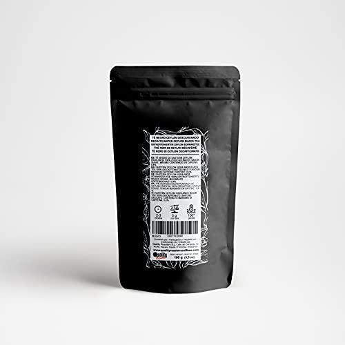 Té Negro Ceylán Descafeinado. (100 gr)
