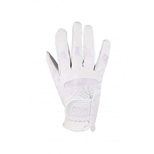 QHP Reithandschuhe Kinder-Handschuhe Multi luftdurchlässig Stretch Klett (Weiß, Junior 3)