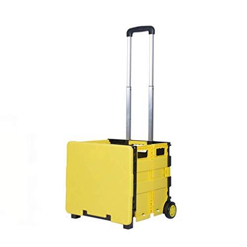 ZHANGYY Carrito de la Compra Carros utilitarios portátiles Plegable lley Carro Ligero para Subir escaleras con Rueda (Color: A)