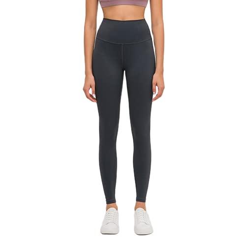 QTJY Pantalones de Yoga elásticos para Mujer, Cintura Alta, Cadera, Cadera, Ajustados, Pantalones para Correr, Push-up, Gimnasio, Celulitis, Pantalones de Fitness H L
