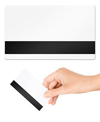 hi-co 2750OE MAG Stripe Blank PVC Cards in plastica–Confezione da 100di cordini domani 760micron bianco standard CR80formato carta di credito 86x 54mm–stampabile per stampanti desktop ID card