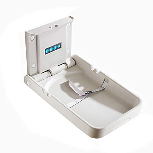 QZ Cambiadores de pañales Estación de Cambio de bebé Vertical montada en la Pared - Estación de pañales Plegable con Correas de Seguridad - Ideal para baños comerciales