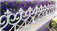 Zaun Friesenzaun Zaun Gartenzaun im Set 4 Module zu 2,40 m in weiß Rasen
