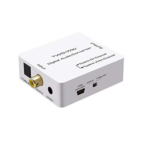 AMANKA Digital Audio konverter, Optische SPDIF Toslink zu Koaxial Converter or Koaxial zu Optische SPDIF Toslink Wandler Bidirektionaler Signal Adapter