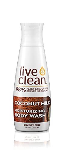 Live Clean Coconut Milk Moisturizing Body Wash, 17 oz