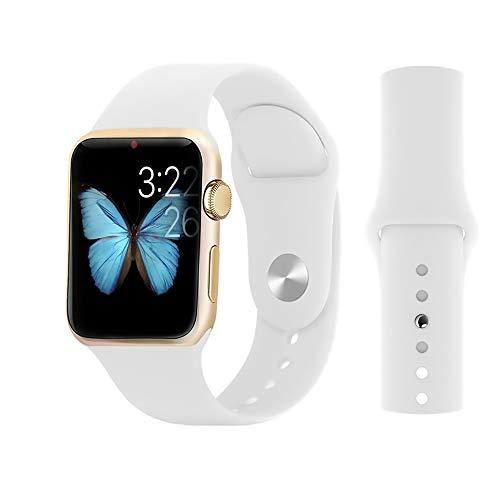 Correa De Reloj De Silicona Deportiva Compatible Iwatch 38 / 40MM 42 / 44MM para Apple Watch 1 2 3 4 5,Blanco,38/40mm
