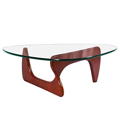 Muebles La Mesa de Centro de Vidrio Templado Forma de triángulo es Perfecta for Espacios en Esquina y escritorios en Forma de L o Simplemente Colocar en Productos domés