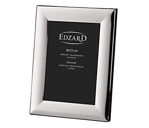 EDZARD Fotorahmen Gela für Foto 9 x 13 cm, edel versilbert, anlaufgeschützt