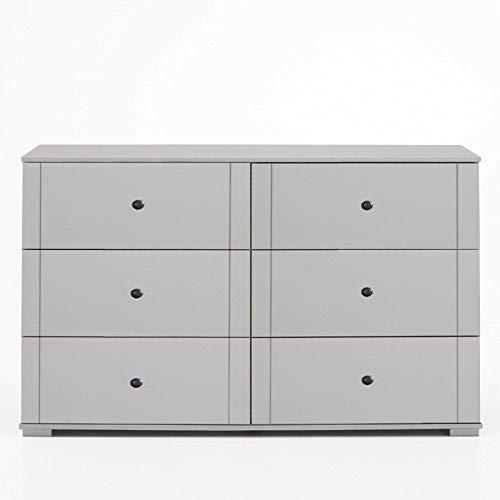 Wimex Kommode Ilona, 6 Schubladen, (B/H/T) 130 x 83 x 41 cm, weiß
