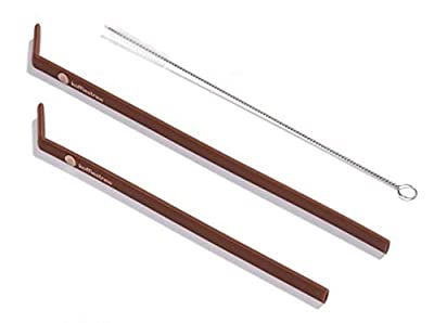 "Koffie Straw MOCHA in both sizes (2 straws: 8"", 10"", and a brush)"