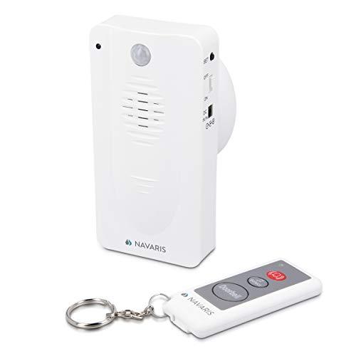 Navaris Timbre y Alarma con Sensor de Movimiento - Detector de Movimiento inalámbrico para Puertas de casa o Tienda - Mando a Distancia - para Gatos