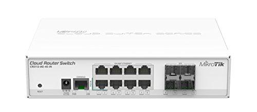 MikroTik CRS112-8G-4S-IN L3 Gigabit Ethernet (10/100/1000) Energía sobre Ethernet (PoE) Blanco Switch - Switch de Red (L3, Gigabit Ethernet (10/100/1000), Energía sobre Ethernet (PoE))