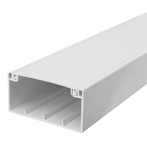 SCOS Smartcosat SCOSKK187 16 m Brüstungskanal (L x B x H 2000 x 100 x 50 mm, PVC, Kabelleiste, Schraubbar) weiß