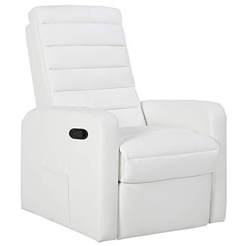 gridinlux. Sillón Relax Edición Blanco. Reclinable, Masaje y Calor Lumbar, con Mando, 8 Motores, 4 Zonas de Masaje, 5 Modos