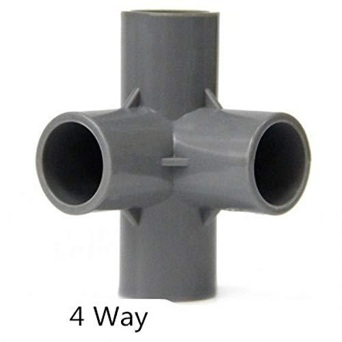 Zent PVC Rohrverbindungsverbinder 3 4 5 6-Wege-Schlauchteiler 20-50 mm Gartenbewässerungswasserleitung Passender Kupplungsadapter DIY-Regalverbindung, 4-Wege, 25 mm