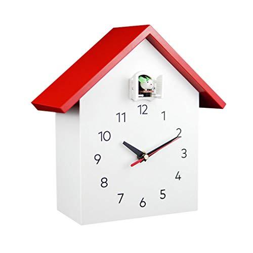 Reloj de Pared Reloj de Cuco de Madera Maciza Mute Reloj de Hora Inteligente Reloj Moderno Minimalista Creativo Reloj de Cuco Reloj de Pared para Sala de Estar
