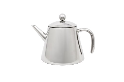 Teekanne doppelwandig 1,2L Edelstahl glänzend 220x155x160mm