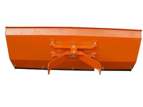 Schneepflug Räumschild Schneeschild gekantet mit Universalhalterung Orange 100 x 40cm / 3 Stufen verstellbar