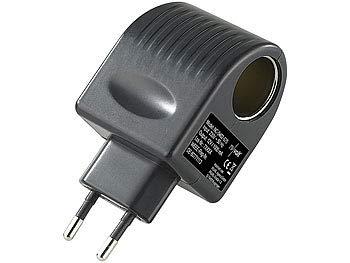 reVolt Spannungswandler 220/230V auf 12V: Steckdose auf Zigarettenanzünder AC/DC - Netzteil KFZ-Dose Compact 12V 1000mah Umwandler