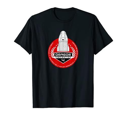 INSPIRACIÓN 4 Falcon 9 Inspiración4 astronauta Dragon crew Camiseta