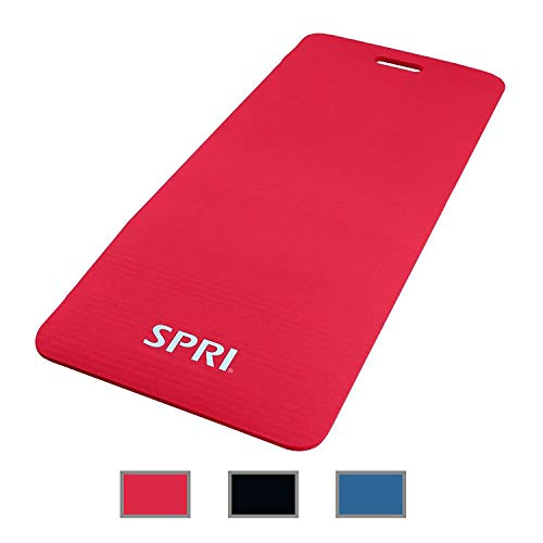 SPRI Exercise Mat for Fitness, Yoga, Pilates, Stretching & Floor Exercises (48'L x 20'W x 1/2-Inch Thick)